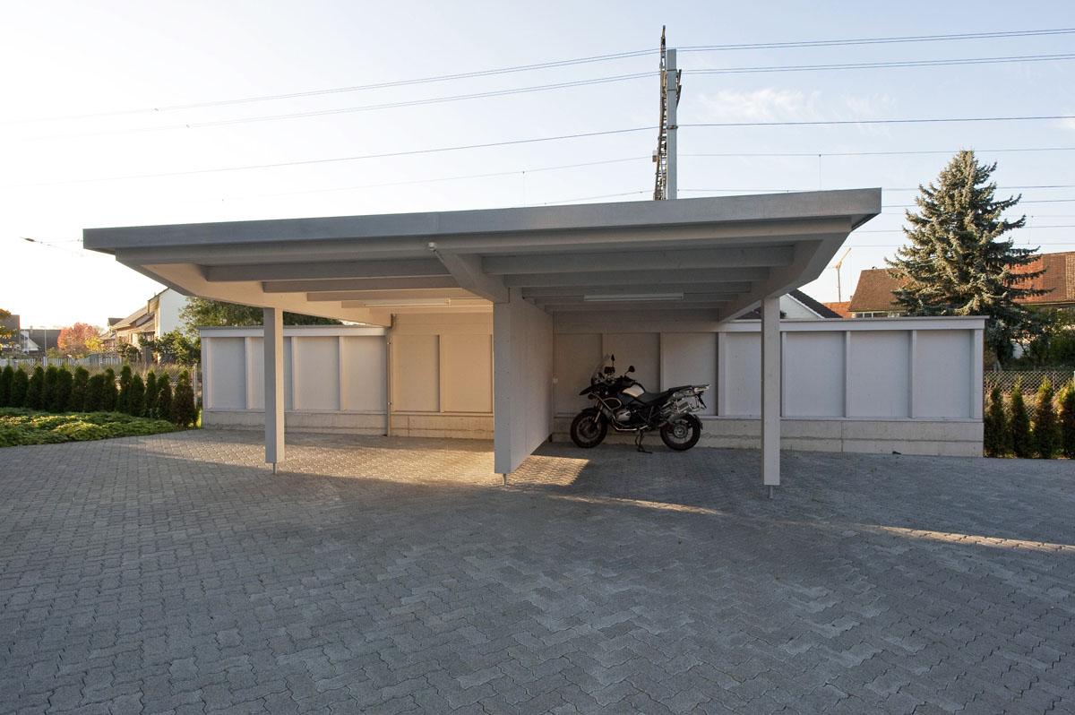 carport dachaufbau pultdach carport carport tipps vom fachmann flachdach carports holzgaragen. Black Bedroom Furniture Sets. Home Design Ideas